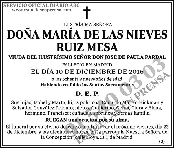 María de las Nieves Ruiz Mesa